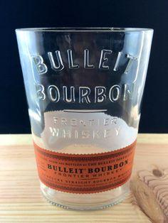 Bulliet Whiskey Bottle cut into Vase by PMGlassArt on Etsy
