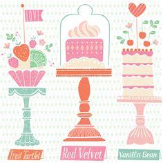 Petit Fours Illustration by Maeve Parker for 2015 Food Calendar. www.maeveparker.com