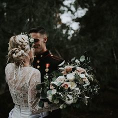 THIS WEDDING // The epitome of the modern bohemian bride, Halle's wedding was filled with the details we only dream of! This dark moody, stylish affair has us all dreaming of our own eclectic wedding. Halle's looked breathtaking in our 'Tillie' lace crop and 'Alexia' skirt two-piece combination gown, which she purchased from @ellebridalboutique in San Diego, CALIFORNIA • Venue - Ethereal Open Air Resort Photos - Andrea Stewart • Photography - @astewyy • Flowers: Modern Bouqet