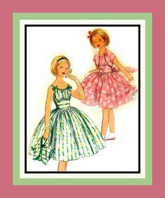 Vintage 1957 Girls Dress Matching Jacket by FarfallaDesignStudio, $22.00