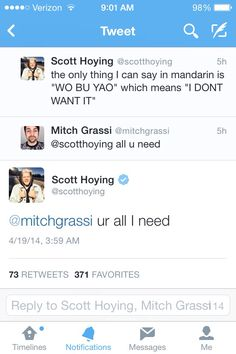 This conversation is so cute!