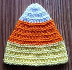 Candy Corn Hat by erinshooknook on Etsy