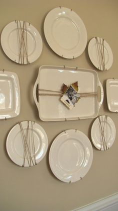 dining room: when I do the plate wall include N.G's silver platter among the plates?