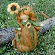 Needle Felted Wool Fairy