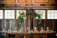 Inspiration for summer wedding head table.