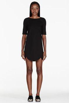 Marc By Marc Jacobs Black Ponte Knit Sophia Dress for women | SSENSE