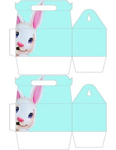 Easter hp gable gift box large free printable pinterest bunny easter gable box free to share happy easter negle Image collections