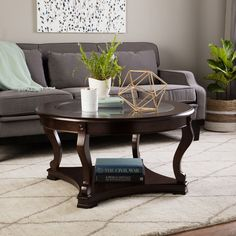 Coffee End Table Set Oval Glass Tops Espresso Finish Wood 3 Piece W
