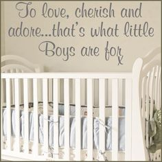 Images of Baby Boy Nurseries   TO LOVE CHERISH AND ADORE BABY BOY NURSERY WALL ART~ Wall sticker ...