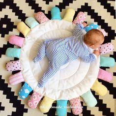 Купить Развивающий коврик-ромашка - разноцветный, развивающая игрушка, развивающий коврик, подарок на рождение, новорожденному