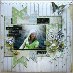 You may recall that the purpose of this monthly challenge group is to take our scrapbooking to the next level, to stretch our creative proce...