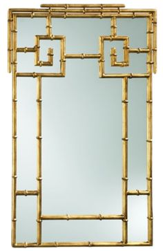 Bamboo Mirror, Zinc Door