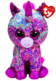 2fa8ed309e3 TY Flippables 36266 Sparkle Pink Unicorn Medium - 24cm