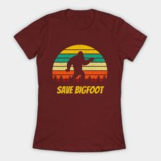 Save Bigfoot Retro Grunge Distressed Sunset - Bigfoot - T-Shirt   TeePublic. Save Bigfoot, the social distancing champion of the world.  Funny  Sasquatch design perfect for those that believe Bigfoot Lives Matter.   What better way to spend your retirement than searching for the Yeti. Champions Of The World, Bigfoot, Online Shopping Stores, Retirement, Searching, Grunge, Hobbies, Sunset, Retro