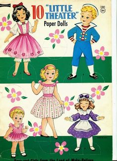 10 Little Theater Paper Dolls. A gorgeous full set to download. For doll play or crafts.