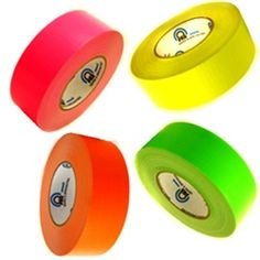 1 Inch UV Blacklight Reactive Fluorescent Gaffer Tape - use for all different crafts.