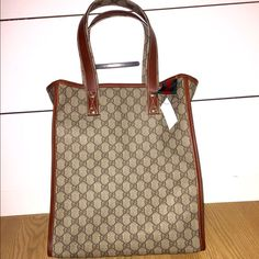 Nwt Coated Canvas Gucci Tote