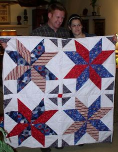 Looking for quilting project inspiration? Check out Wedding/ Quilt of Valor by member MaryJane H.
