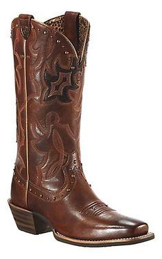 Ariat® Runaway™ Ladies Vintage Carmel w/ Rich Chocolate Square Toe Western  Boots |