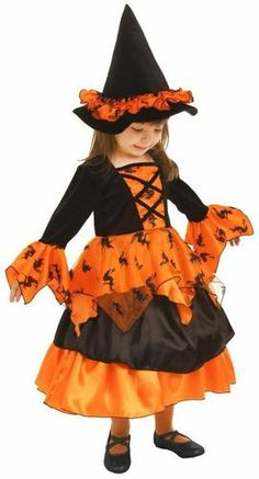Little Darling Orange Witch Dress. New Little Orange Witch Dress and Hat Toddler/Child Costume For Halloween Toddler Witch Costumes, Funny Kid Halloween Costumes, Cute Costumes, Family Costumes, Halloween Dress, Baby Costumes, Cute Halloween, Costume Ideas, Halloween Witches