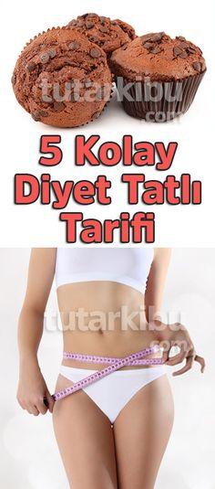 5 Kolay Diyet Tatlı Tarifi, the 5 Easy Diet Dessert Recipe, Heart Healthy Desserts, Easy Desserts, Ab Diet, Diet Menu, Cake Recipes, Dessert Recipes, Food Articles, Easy Diets, Food Trends