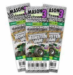 Monster Truck Birthday Party Ideas Invitations Products 49 Ideas For 2019 Monster Truck Party, Monster Jam, Monster Trucks, Monster Truck Birthday Cake, Digger Birthday Parties, Digger Party, Birthday Party Invitations, Cake Birthday, 4th Birthday
