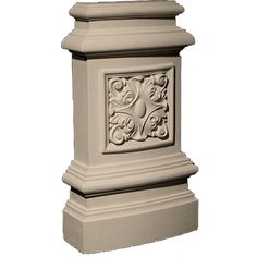 Traditional Resin Base Plinth Block with Rosette - 0 Architecture Drawing Art, Temple Architecture, Architecture Details, Wall Pannels, House Pillars, Stamped Concrete Patterns, Plinth Blocks, Pillar Design, Interior Columns