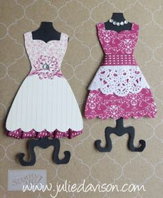 Julie's Stamping Spot -- Stampin' Up! Project Ideas Posted Daily: Paper Craft Fashion with Dress Up Framelits