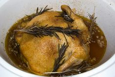 """Rotisserie"" chicken- crock pot style"
