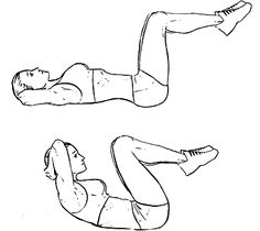 6. Bicycle Exercises: How to do: Lie on your back and legs towards floor. Extend right leg upwards … #bikingworkoutforweightloss