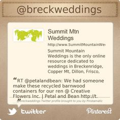 Summit County Mom, Dina Sanchez & husband Stacy Sanchez are on Twitter @breckweddings's Twitter profile courtesy of @Pinstamatic (http://pinstamatic.com)