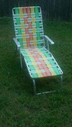 Outdoor Folding Reclining Beach Sun Patio Web Chaise Lounge Chair Pool Lawn Seat…