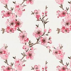 Carousel Designs Pink Cherry Blossom Fabric by The Yard - Organic Cotton Cherry Blossom Wallpaper, Cherry Blossom Watercolor, Cherry Blossom Flowers, Cream Flowers, Blossom Trees, Cherry Blossom Nursery, Artificial Cherry Blossom Tree, Cherry Blossom Drawing, Cherry Blossom Background