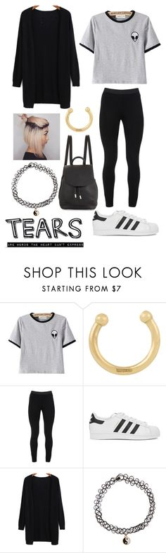 """""""Alien"""" by seabailey ❤ liked on Polyvore featuring Ileana Makri, Peace of Cloth, adidas Originals, Accessorize and rag & bone"""