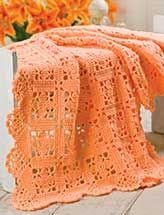 Lacy Squares With Scallop Edging