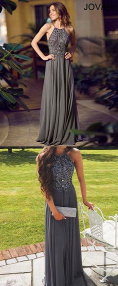 Dark Grey Prom Dress, Prom Dresses, Graduation Party Dresses, Formal Dress For Teens BPD0446