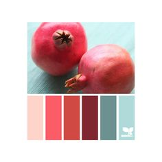 pomegranate palette ❤ liked on Polyvore featuring design seeds, color palette, backgrounds, color schemes and sliki
