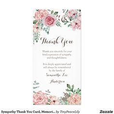 Sympathy Thank You Card, Memorial Card