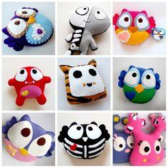Handmade owl plush and toy animal plushies Sewing Toys, Sewing Crafts, Sewing Projects, Plush Animals, Felt Animals, Plushies, Softies, Felt Crafts, Diy Crafts