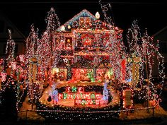 extreme holiday lighting! Wonder what the electric bill is on this bad boy?