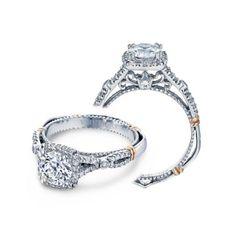 Verragio 14K Two Tone Parisian 109CU Halo Ring $2650 wedding day