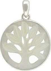 This is a stunning combination. Hand Carved Mother of Pearl pendant set in sterling silver.