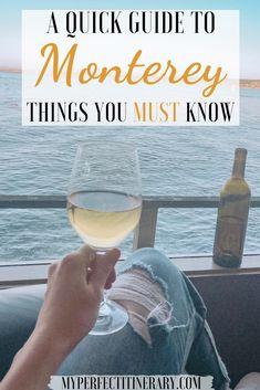 Guide to visiting Monterey, California Monterey Bay California, California Travel, Carmel California, Northern California, Places To Travel, Places To Go, Travel Destinations, Travel Usa, Travel Tips