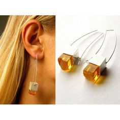 FREE Shipping, Amber earrings, Gift, Silver 925, NEW, UNIQUE- Handmade von JewellryWithSoul auf Etsy