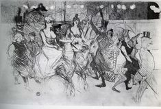 Gala at the Moulin Rouge - Henri de Toulouse-Lautrec - WikiArt.org