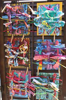 artrageousafternoon: Art Camp. Weaving found pieces