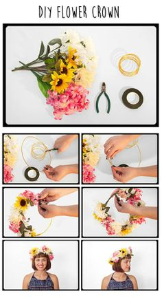 HEY! Thinking of purchasing flower crowns for festivals?  Here is OUR DIY Flower Crown Tutorial on our diary. Trust us, its super easy and super cute!  Check out our diary for full description: http://salsit.com/blog/festival-2014-diy-flower-crown/