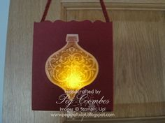 Stampin Up UK Demonstrator UK Pegcraftalot Order Stampin Up HERE: Ornament Keepsakes Luminare