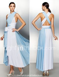 A-Line V-neck Asymmetrical Jersey Prom Formal Evening Dress with Pleats Criss Cross by TS Couture® 2017 - €61.98