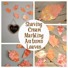 Have you ever tried marbling paper with shaving cream and paint? The results are beautiful and it's a great sensory experience for kids too!